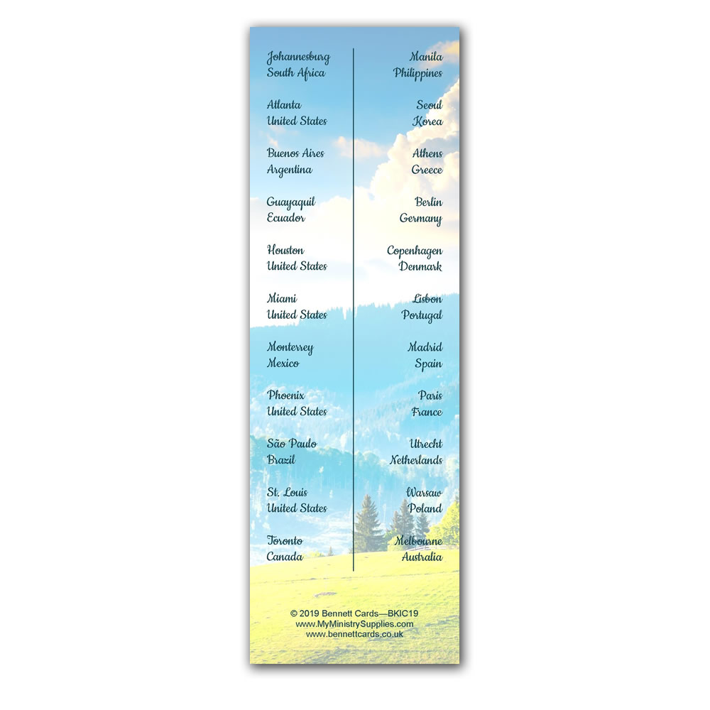2019 International Convention Bookmark Gifts-Pack of 250 - Melbourne  Australia